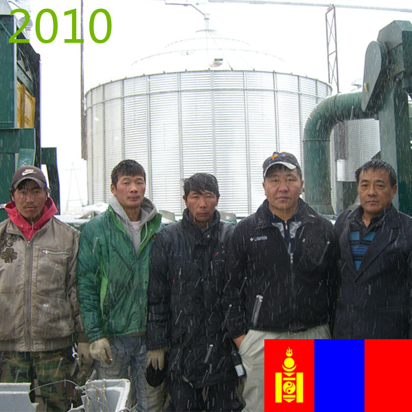 SYNMEC 5T/H Wheat Cleaning Plant In Mongolia At 2010