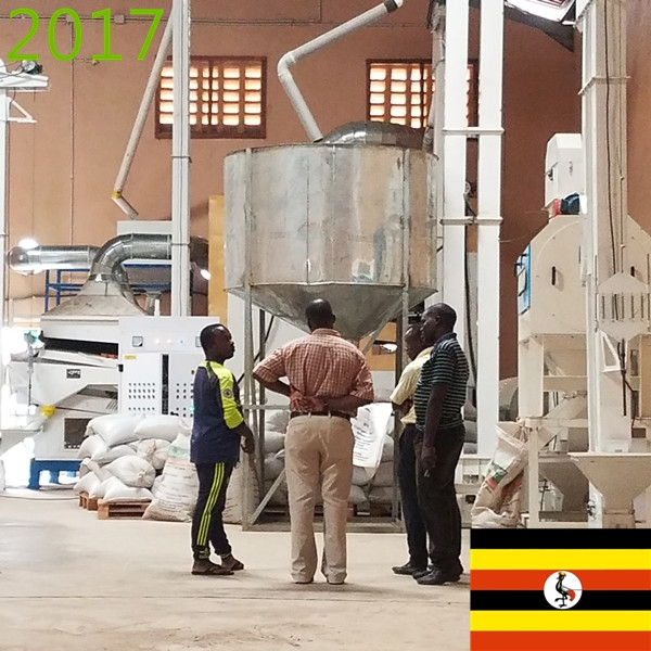 SYNMEC 2T/H Chia Seed Cleaning Plant in Uganda At 2017