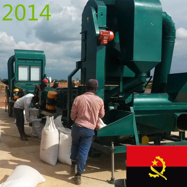 SYNMEC 10T/H Maize Cleaning Plant In Angola At 2014