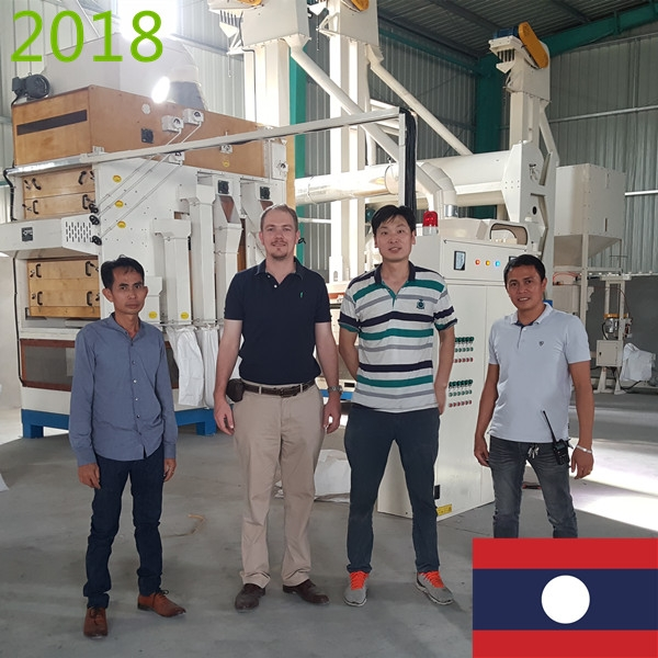 SYNMEC 3T/H Paddy Cleaning Plant In Laos At 2018