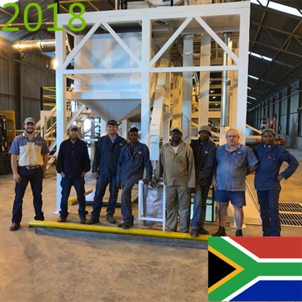 SYNMEC 10T/H Sugar Bean Cleaning Plant In South Africa At 2018