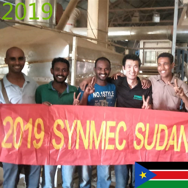 SYNMEC 4T/H Sesam Beans Cleaning Line In Sudan At 2019
