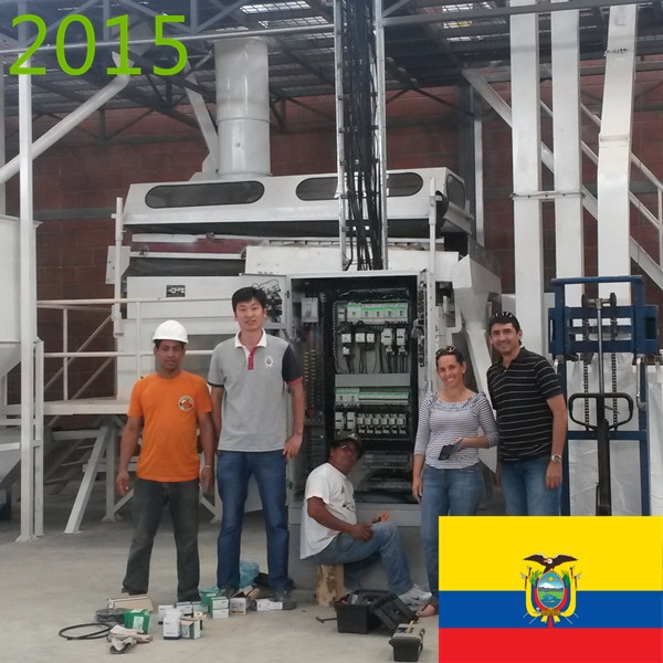 SYNMEC 3T/H Paddy Seed Processing Plant In Ecuador At 2015