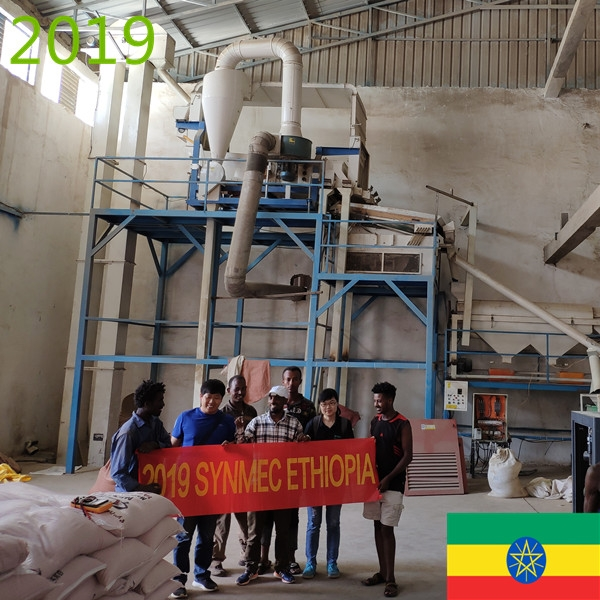 SYNMEC 5T/H Sesame and 8T/H Pulses Cleaning Plant In Ethiopia At 2019