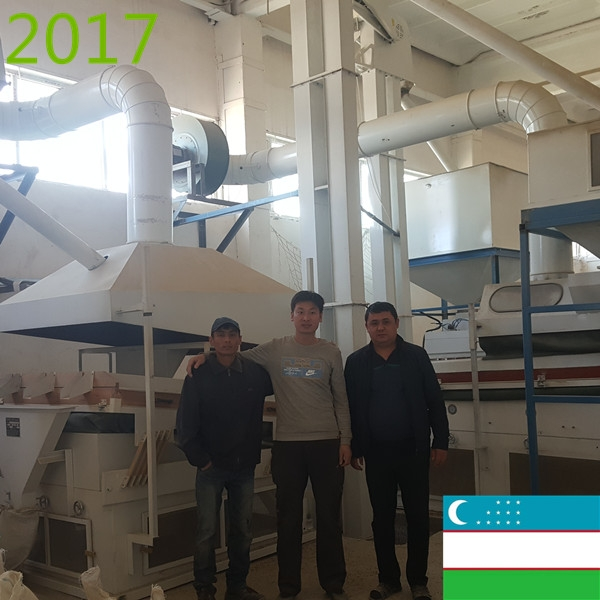 SYNMEC 5T/H Green/Mung Beans Cleaning Plant In Uzbekistan At 2017